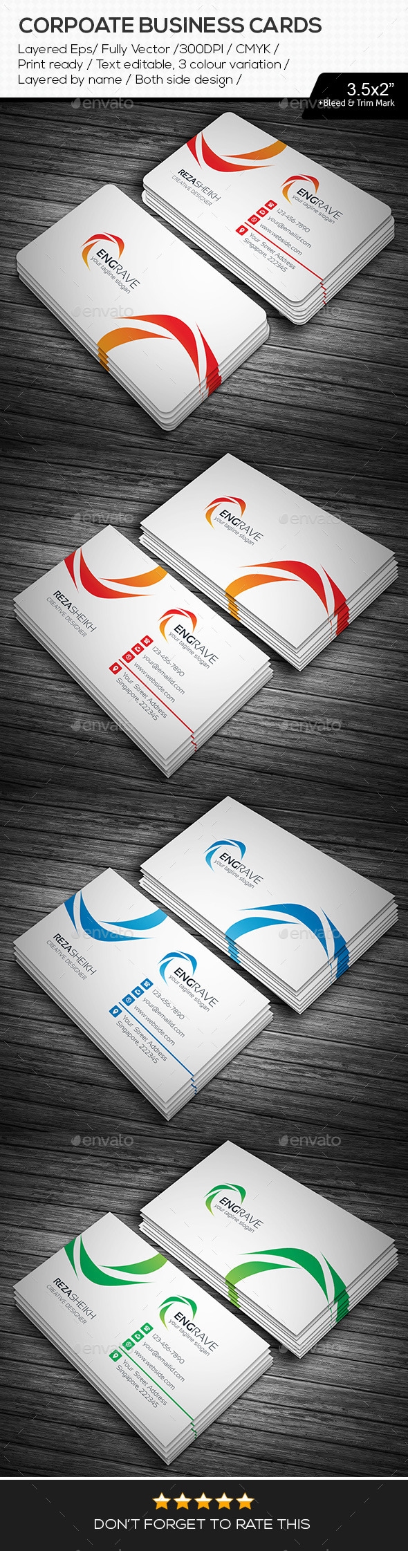 GraphicRiver Engrave Corporate Business Cards 11321706