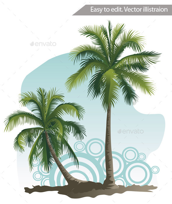 GraphicRiver Two Palm Trees 11316239