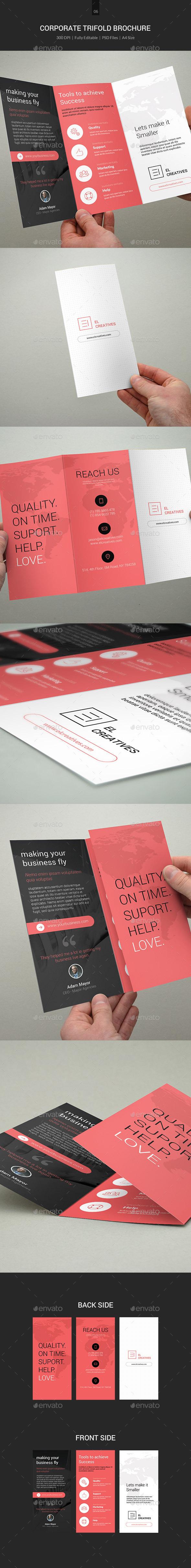 GraphicRiver Minimal Corporate TriFold Brochure 06 11321851