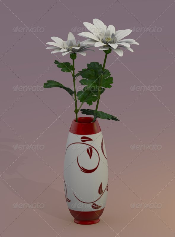 flowers_in_vase - 3DOcean Item for Sale