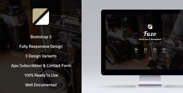 ThemeForest Fuzo Responsive Coming Soon Page 9662847