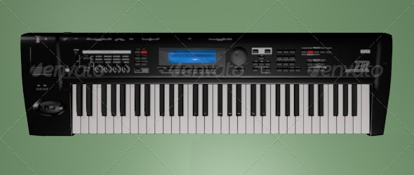3DOcean Keyboard synthesizer 139853