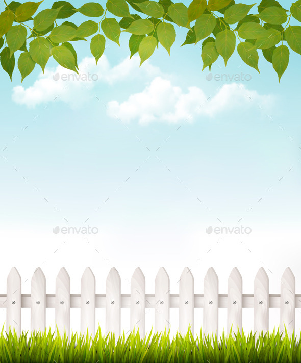 GraphicRiver Nature Background With Green Leaves 11317375