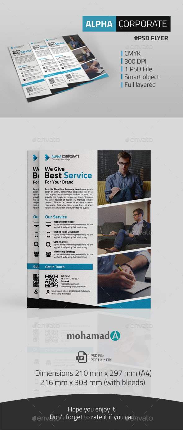 GraphicRiver Alpha Corporate Flyer 11322138