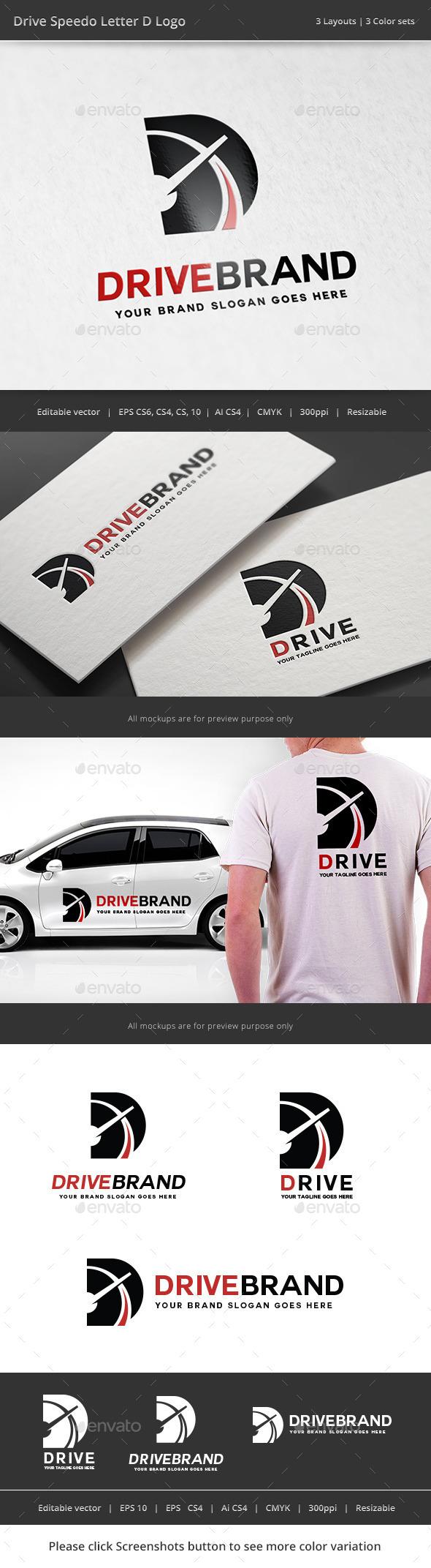 GraphicRiver Drive Letter D Logo 11322178