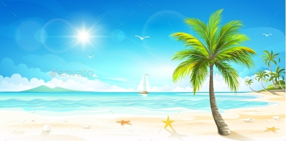 GraphicRiver Tropical Beach 11322263