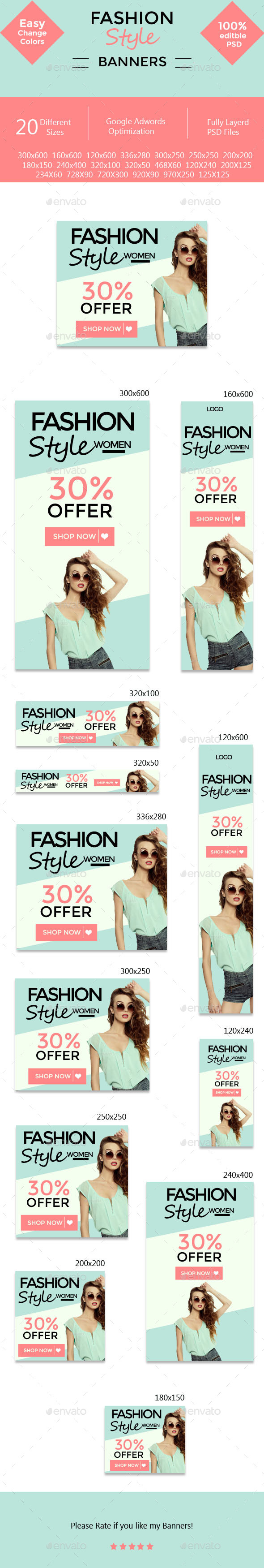 GraphicRiver Fashion Style Banners 11322292