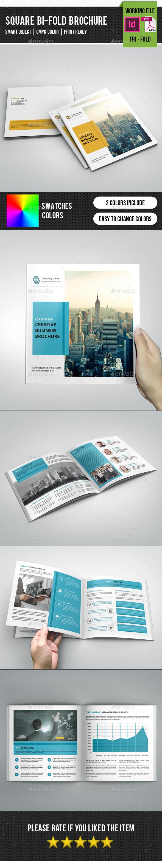 GraphicRiver Corporate Square Bifold Brochure-V243 11322340