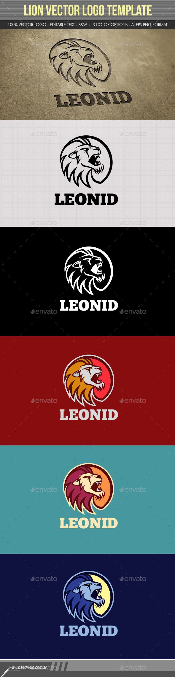 GraphicRiver Lion Vector Logo Template 11322663