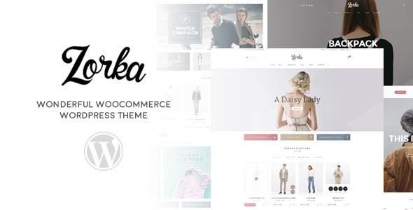 ThemeForest ZORKA Wonderful Fashion WooCommerce Theme 11257557