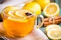 cup of tea with lemon and anise