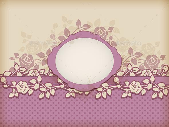 GraphicRiver Vintage Floral Background 11323140