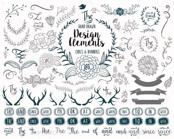 GraphicRiver Hand Drawn Elements 11323154