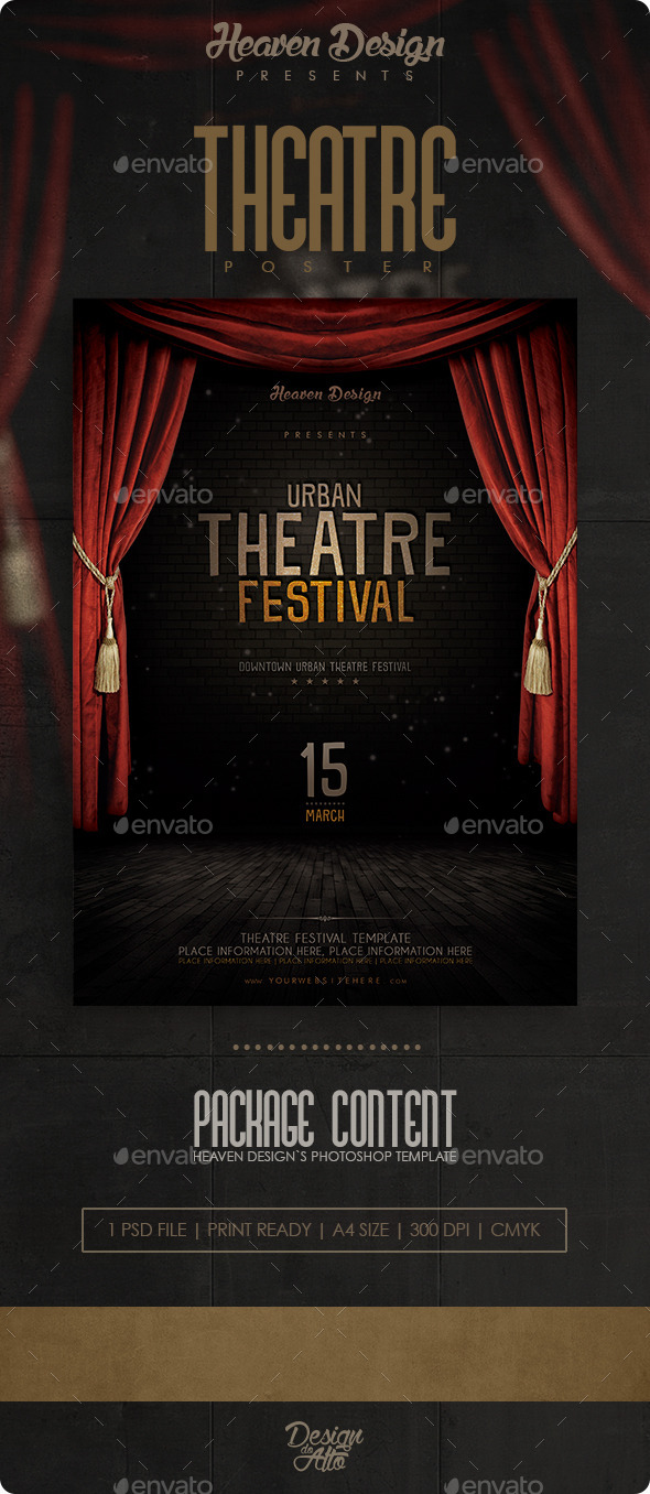 GraphicRiver Theatre Flyer 11323223