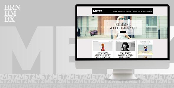 ThemeForest Metz A Fashioned Editorial Magazine Theme 11269863