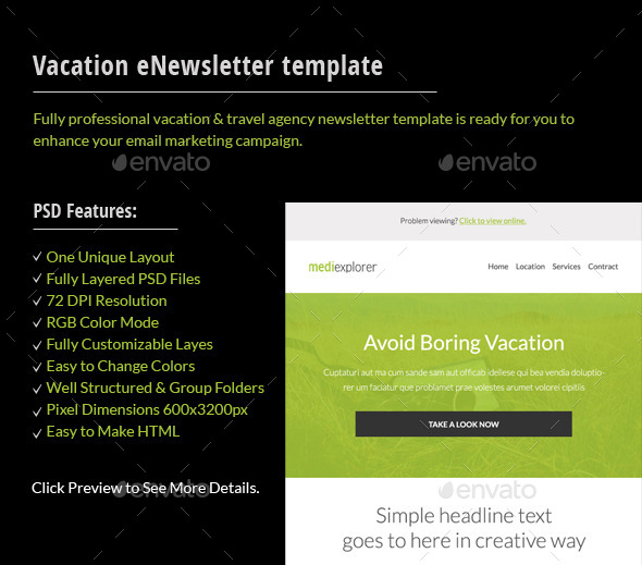 GraphicRiver Travel Agency Email Template 11323231