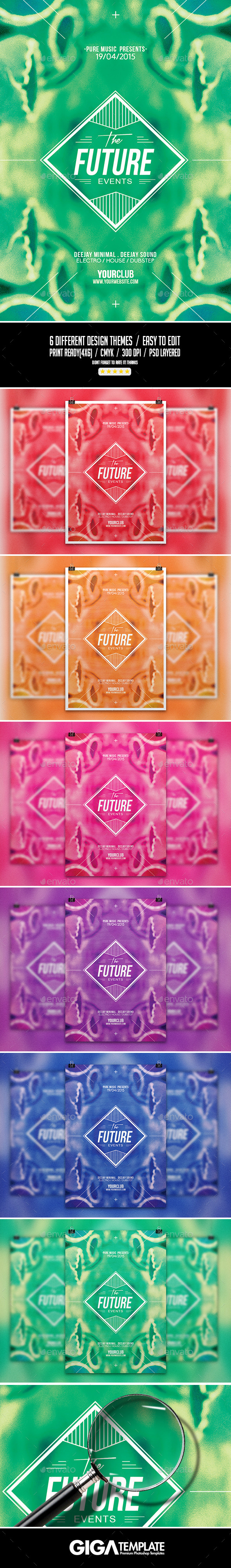 GraphicRiver Strange Future Abstract Minimal Flyer Template 11323389