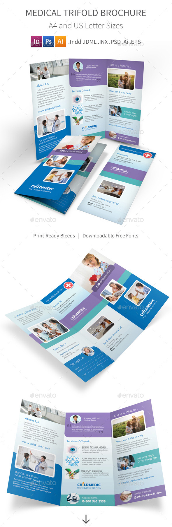 GraphicRiver Medical Trifold Brochure 11323453