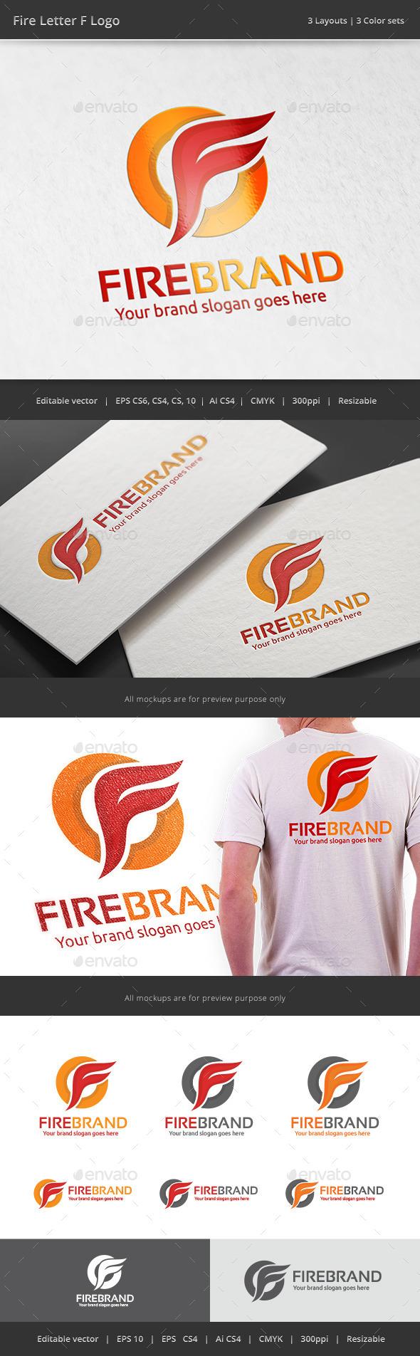 GraphicRiver Fire Brand Letter F Logo 11323499
