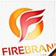 Fire Brand Letter F Logo