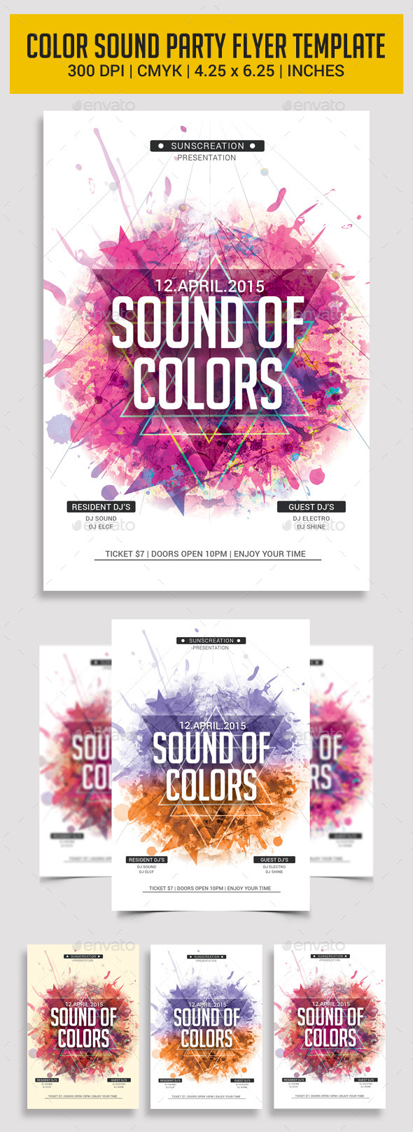 GraphicRiver Electro Sound Party Flyer Template 11323503