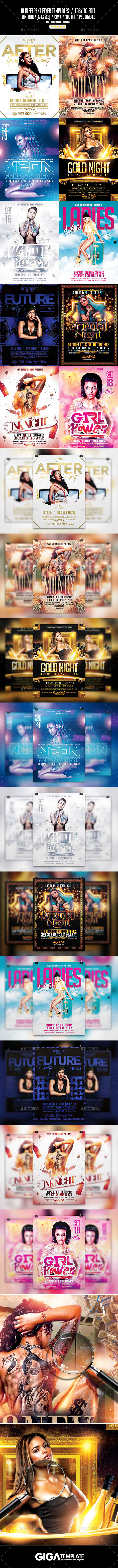 GraphicRiver Giga Bundle 10 Flyer Templates 10929103