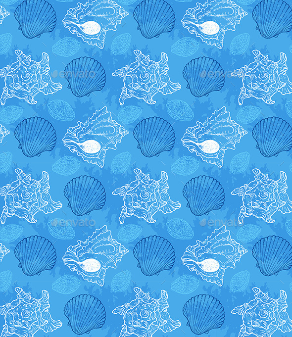 GraphicRiver Seamless Pattern with Sea Shells 11323673