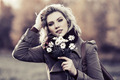 Young fashion woman with a flowers on nature - PhotoDune Item for Sale