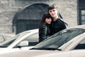 Happy young fashion couple on the city street - PhotoDune Item for Sale