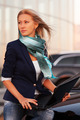 Young fashion business woman with laptop by her car - PhotoDune Item for Sale