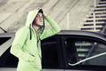 Young fashion man standing  at the car - PhotoDune Item for Sale