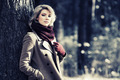 Young blond fashion woman in autumn forest - PhotoDune Item for Sale