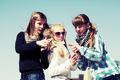 Group of happy teen girls outdoor - PhotoDune Item for Sale