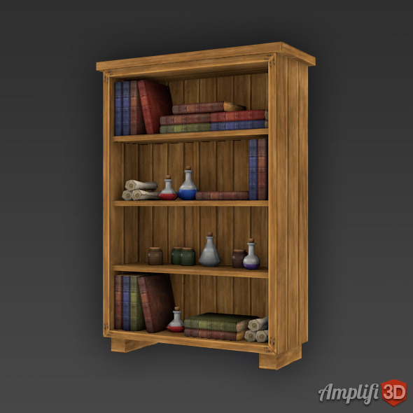 3DOcean Low Poly Cartoon Potion Cupboard 11323699