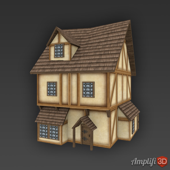 Low Poly Cartoon House