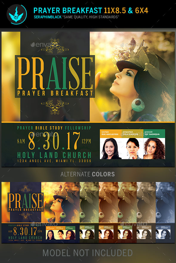 GraphicRiver Praise Prayer Breakfast Flyer Template 11323927
