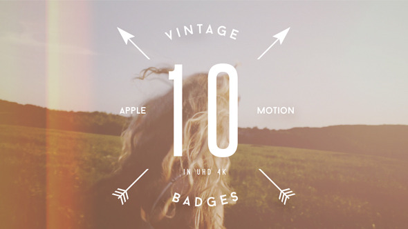 10 Animated Vintage Badges VOL2