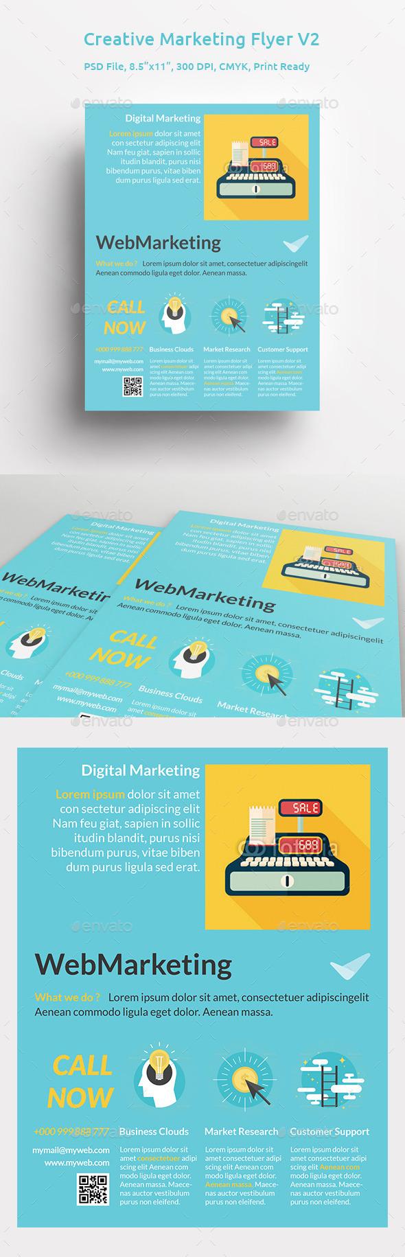 GraphicRiver Creative Marketing Flyer V2 11287484