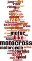 Motocross Word Cloud Concept - PhotoDune Item for Sale