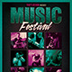 Music Festival Flyer Poster Template V4 - GraphicRiver Item for Sale