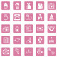 Flat Square Wedding Icons - GraphicRiver Item for Sale