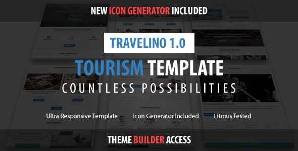 ThemeForest Travelino Tourism Email & Theme Builder Access 11221782