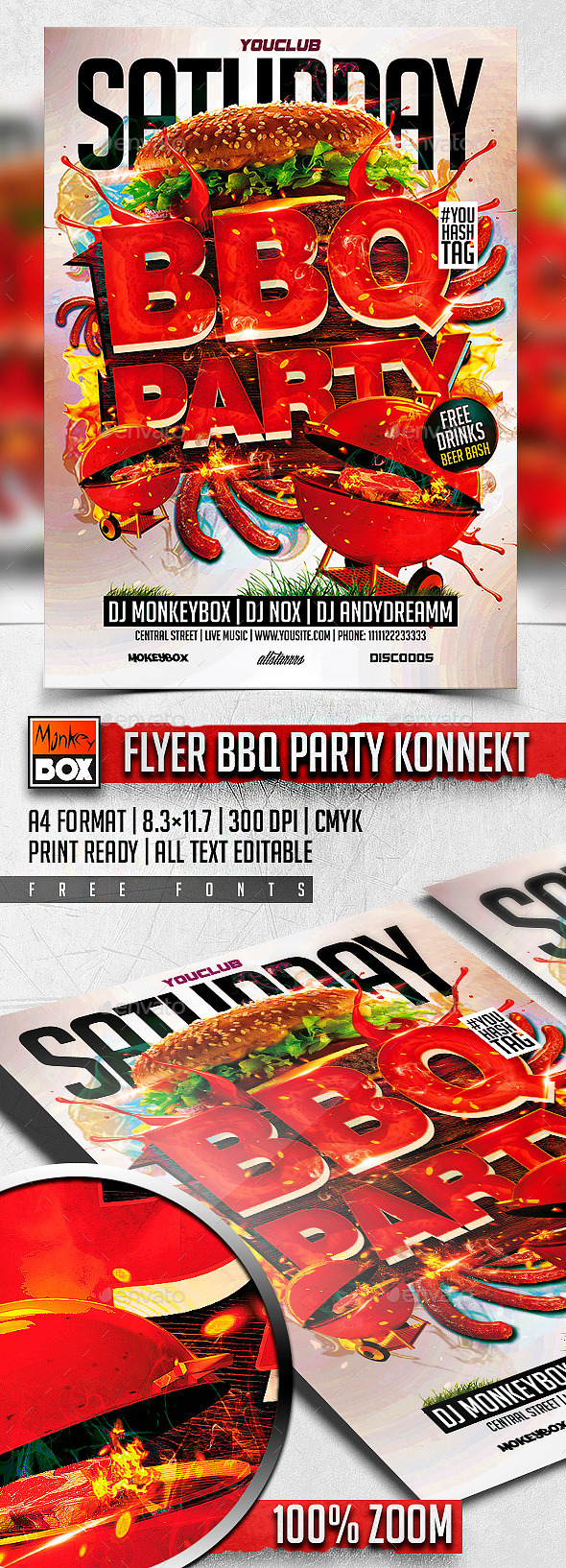GraphicRiver Flyer BBQ Party Konnekt 11324700