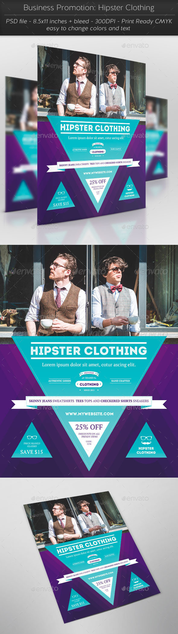 GraphicRiver Business Promotion Hipster Clothing 11324798