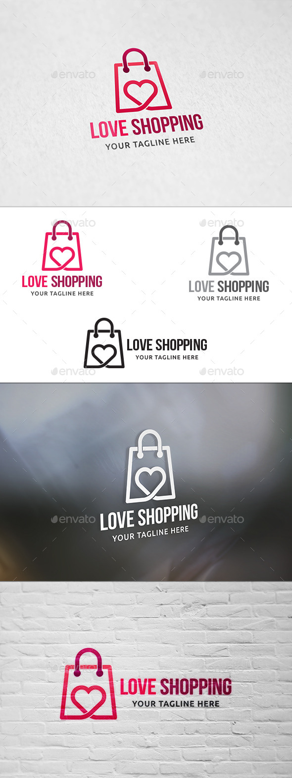 GraphicRiver Love Shopping Logo Template 11324942