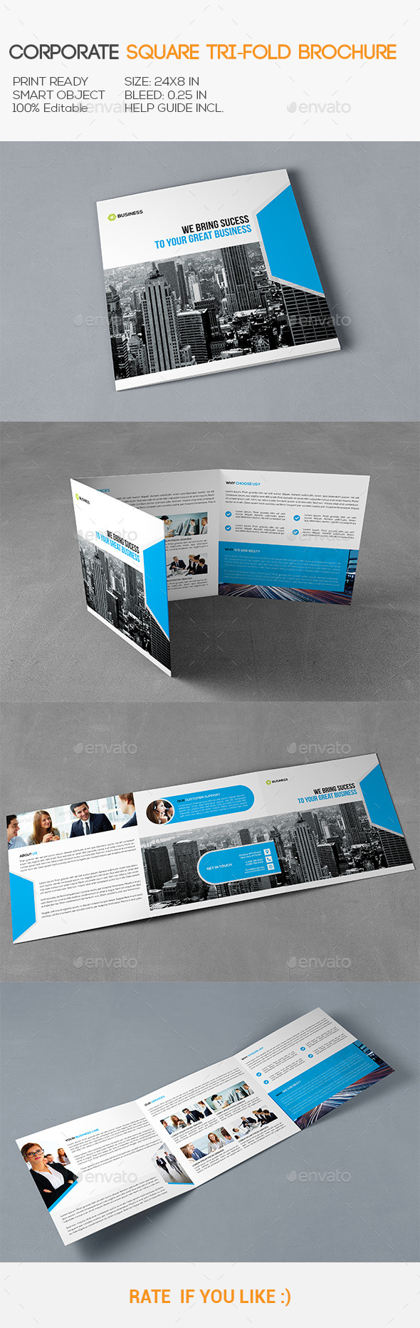 GraphicRiver Corporate Square Trifold Brochure 11325203