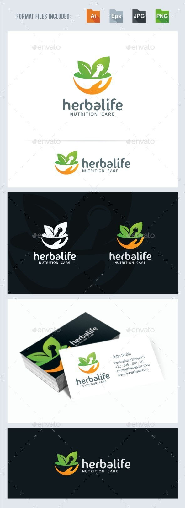 GraphicRiver Herbal Nutrition Logo Template 11325337