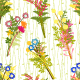 Springtime Colorful Flower with Wild Grass Pattern - GraphicRiver Item for Sale