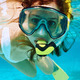 Woman with mask snorkeling - PhotoDune Item for Sale