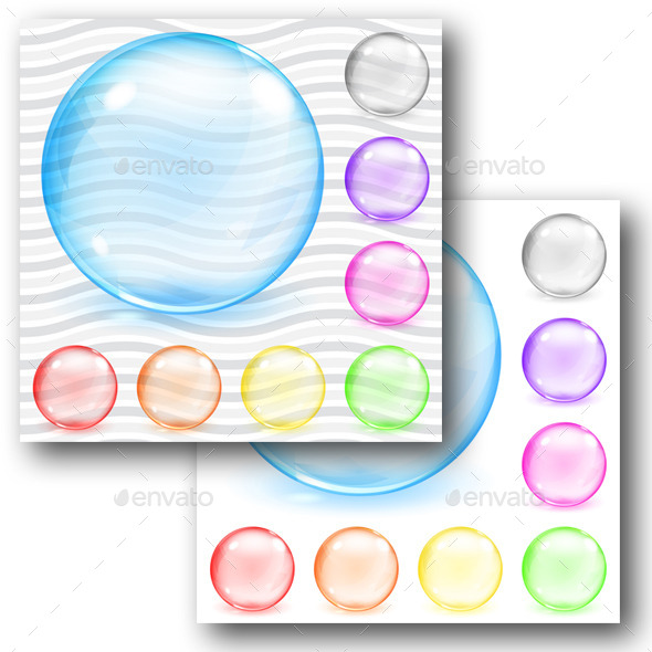 GraphicRiver Multicolored Transparent And Opaque Glass Spheres 11325689